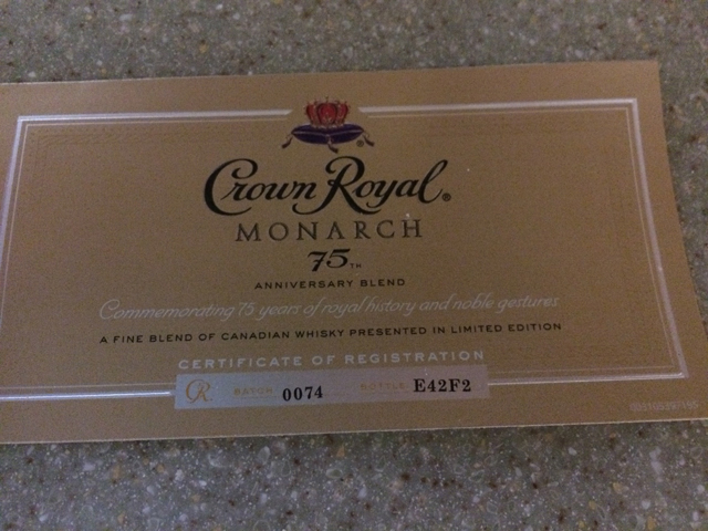 crown royal monarch 75th