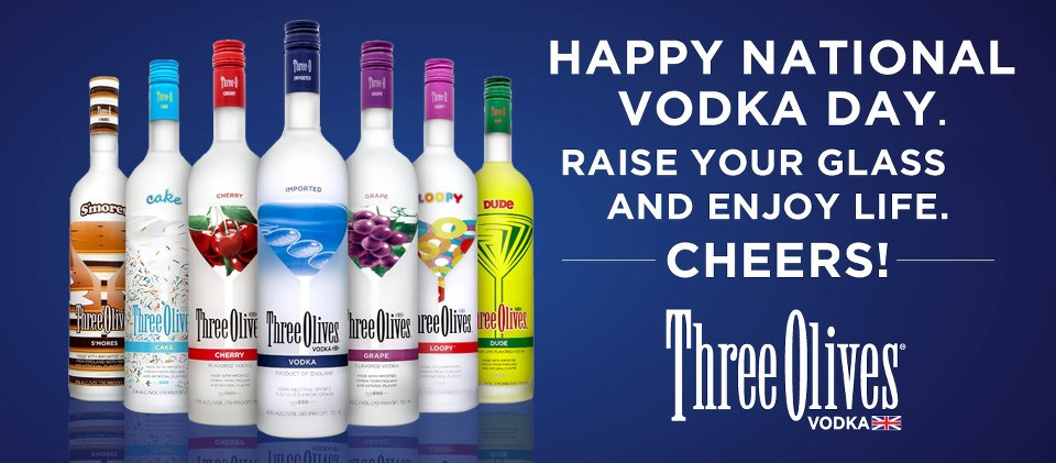 three olives national vodka day
